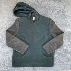 Zahra Hooded Pullover Zip Front